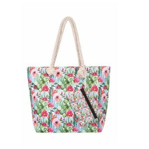 🌵🌸 Cactus Flower Tote W/ Matching Wallet🌵🌸